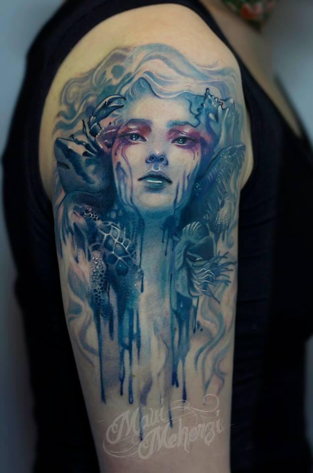 Maui Meherzi - Opus Magnum Tattoo Studio Wien - Ocean Tattoo