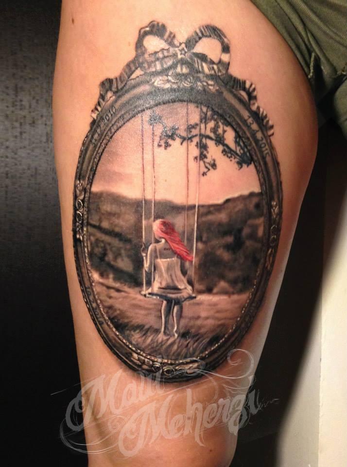 Maui Meherzi - Opus Magnum Tattoo Studio Wien - Bilderrahmen 3D Tattoo