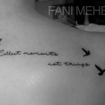 Opus Magnum Tattoo Wien Schrift Vögel  lines fani sofian meherzi filigran filigree lining black cheyenne tatouage τατουά ζ タトゥー 黥