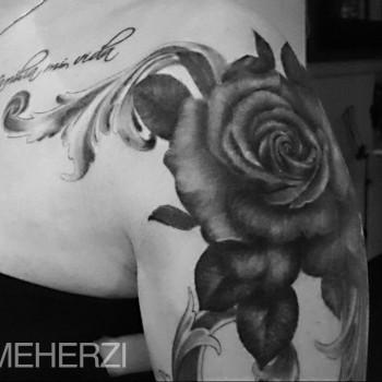 Opus Magnum Tattoo Wien Rose  lines fani sofian meherzi filigran filigree lining black cheyenne tatouage τατουά ζ タトゥー 黥