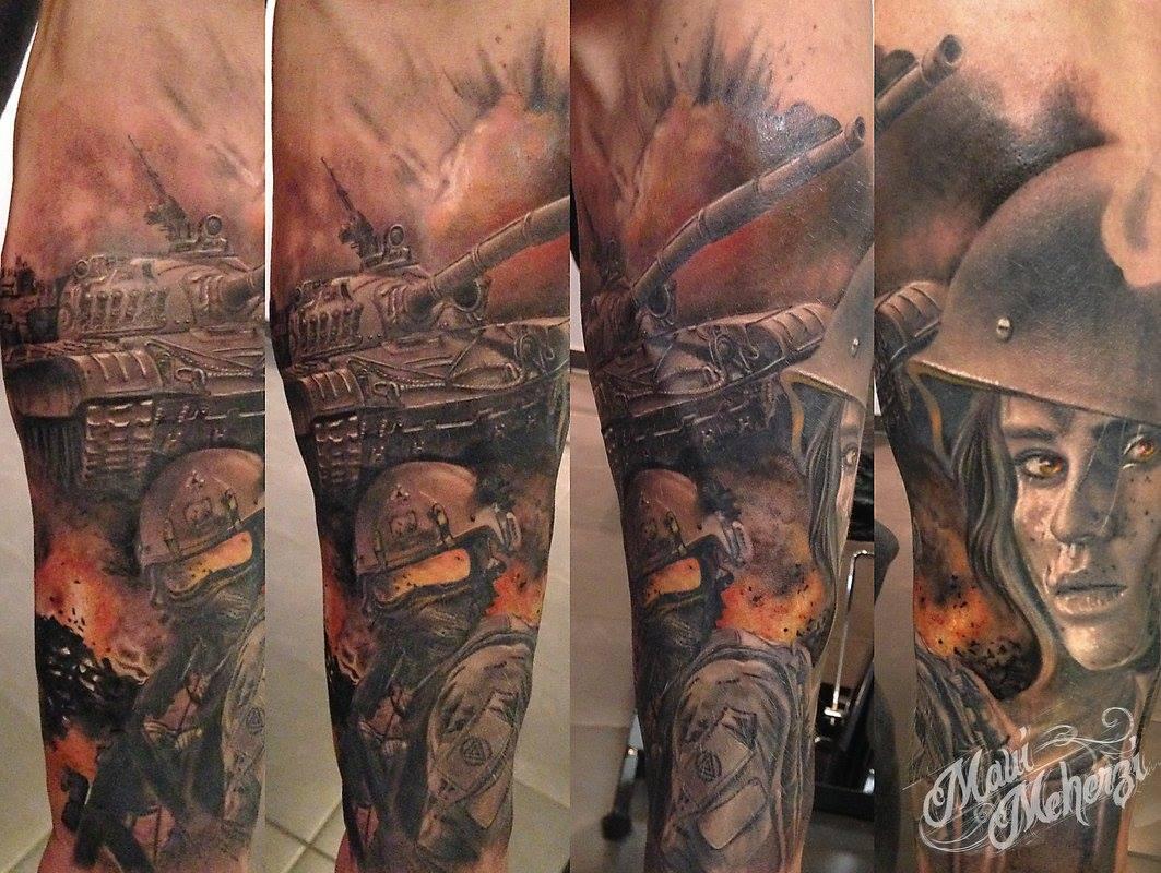 Maui Meherzi - Opus Magnum Tattoo Studio Wien - War Tank Tattoo
