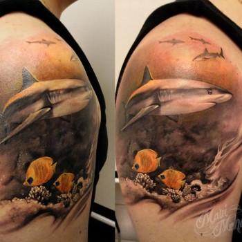 Maui Meherzi - Opus Magnum Tattoo Studio Wien - Shark Hai Aquarium
