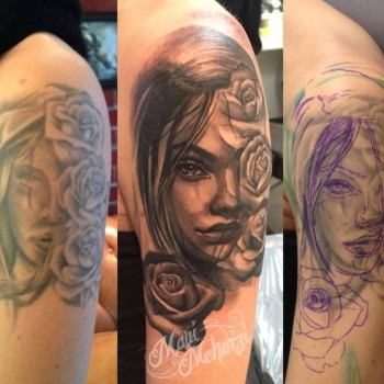 Maui Meherzi - Opus Magnum Tattoo Studio Wien - Cover Up Portrait