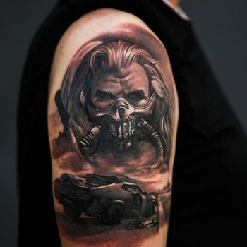 Maui Meherzi - Opus Magnum Tattoo Studio Wien - Mad Max Movie - Immortan Joe
