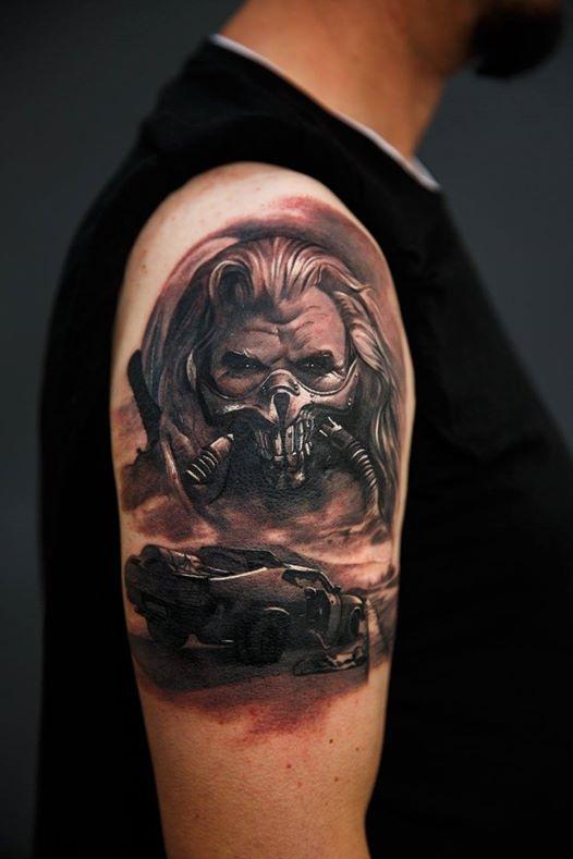 Maui Meherzi - Opus Magnum Tattoo Studio Wien - Mad Max Movie - Immortan Joe