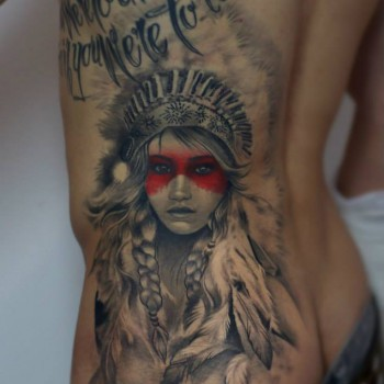 Maui Meherzi - Opus Magnum Tattoo Studio Wien - Native American Tattoo