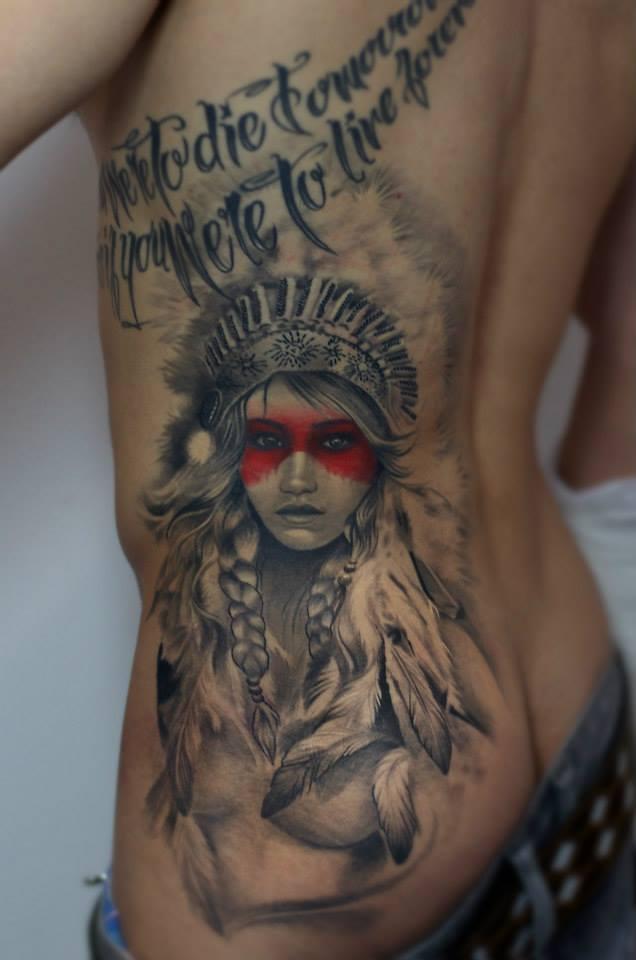 Maui Meherzi - Opus Magnum Tattoo Studio Wien - Native American Tattoo