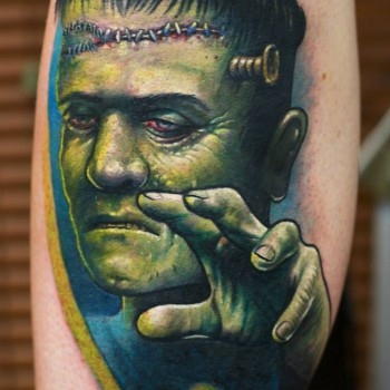 Maui Meherzi - Opus Magnum Tattoo Studio Wien - Frankenstein - Herman Monster