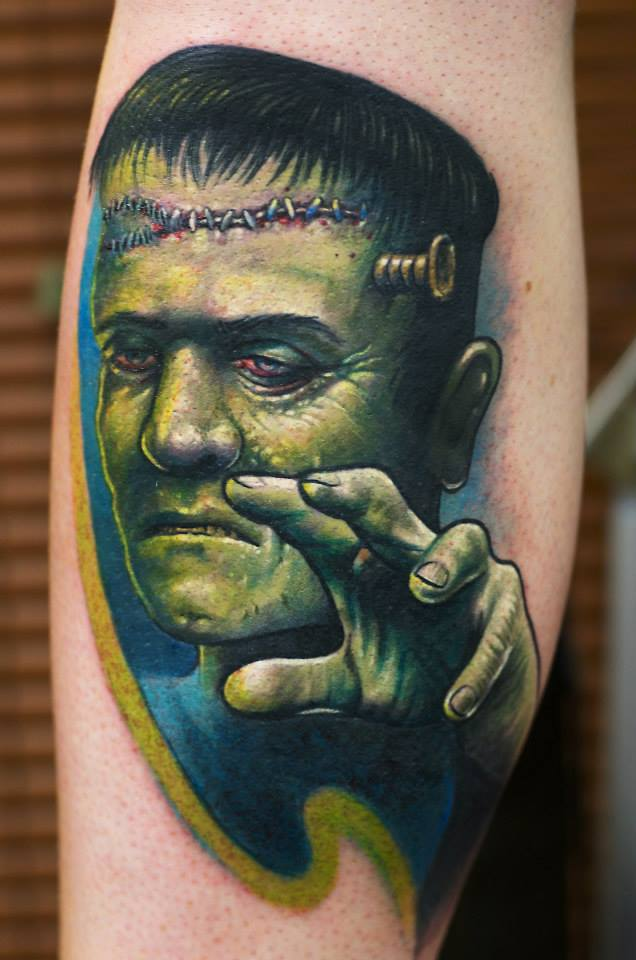 Maui Meherzi - Opus Magnum Tattoo Studio Wien - Frankenstein - Herman Monster