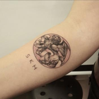 lion tattoo löwe löwentattoo kreis inked small big statue swag insta fani inkedout artistic kunst sherklein