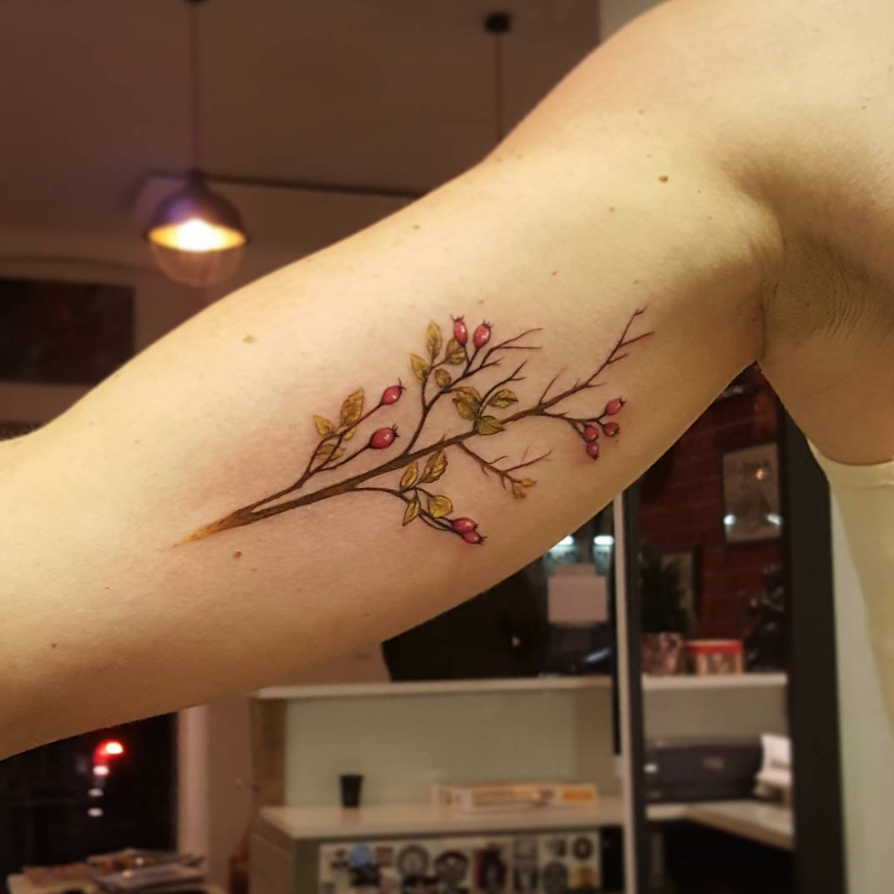 asttattoo ast ink tree treetattoo and der die das klein small art schön tattoooftheday instagram fani