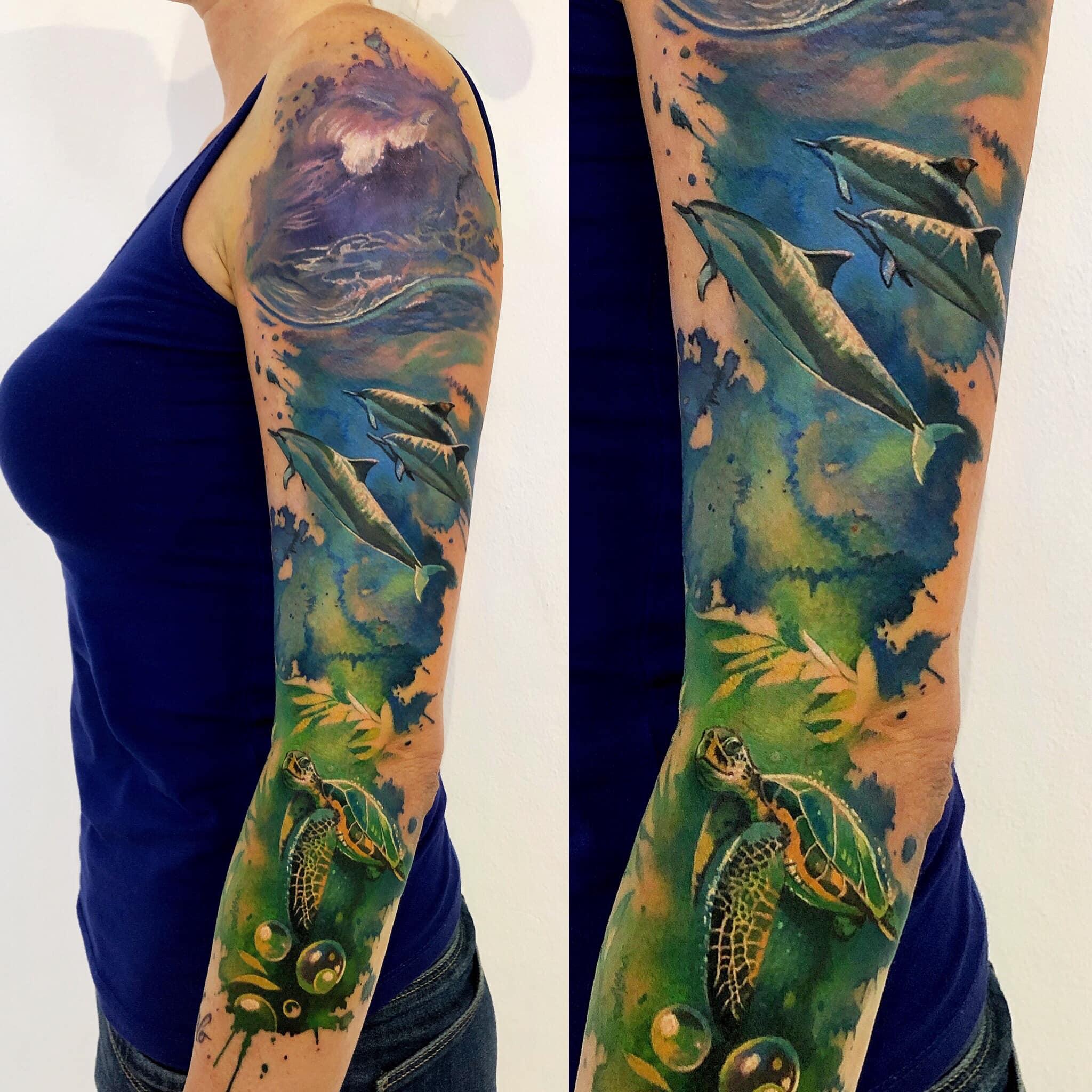 Maui Meherzi - Opus Magnum Tattoo Studio Wien - under the sea