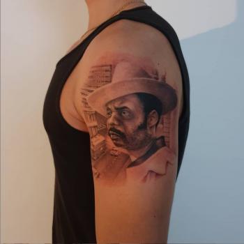 Opus Magnum Tattoo Wien fani sofian meherzi black and grey realistic portrait