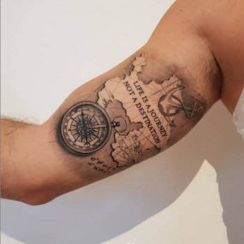 Opus Magnum Tattoo Wien fani sofian meherzi map and compass map