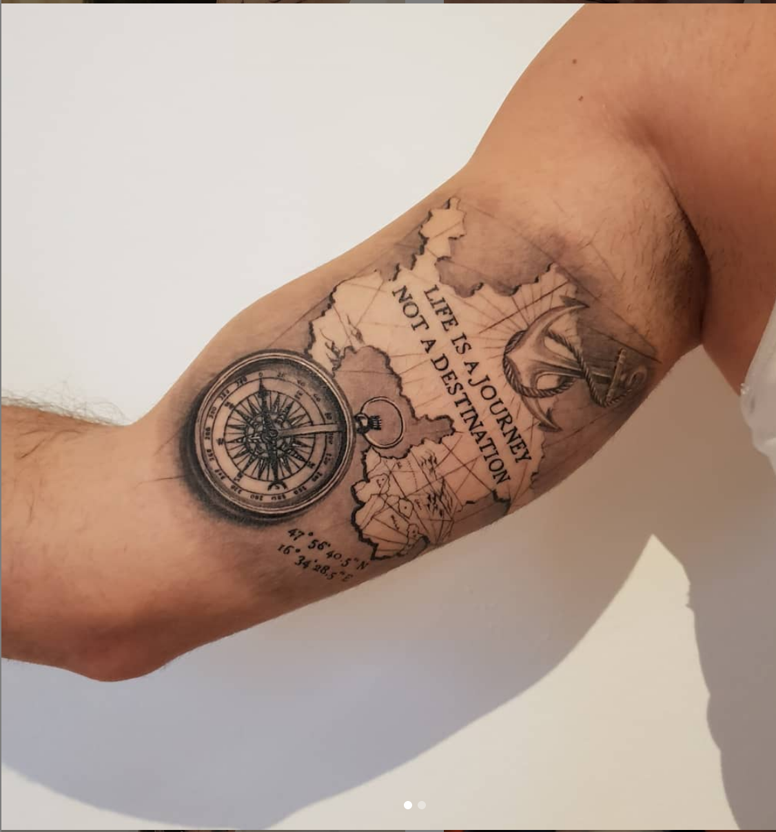 Opus Magnum Tattoo Wien fani sofian meherzi map and compass map