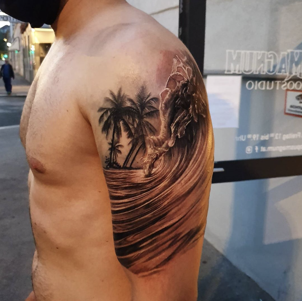 Opus Magnum Tattoo Wien fani sofian meherzi - black and grey beach + ocean