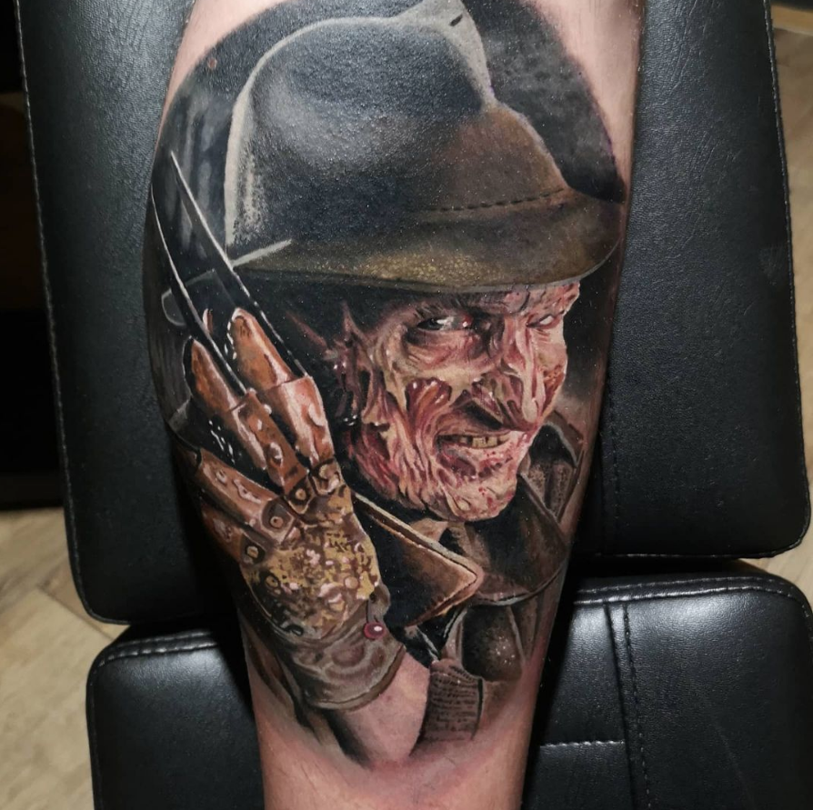 freddy krueger horror tattoo