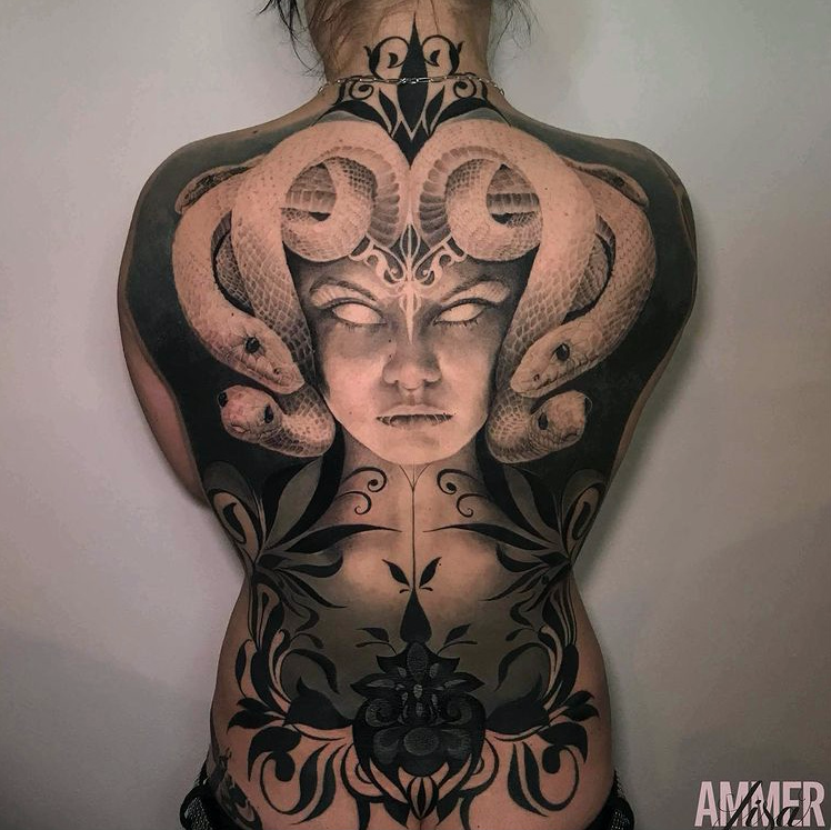 backtattoo medusa
