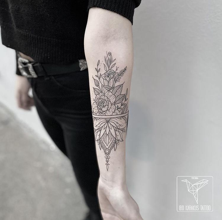 flowers tattoo mandala
