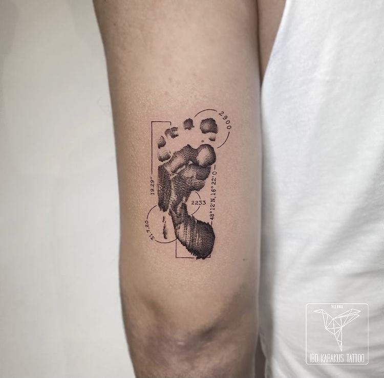 fussabdruck tattoo