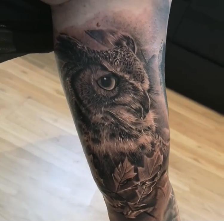 owl tattoo realistic