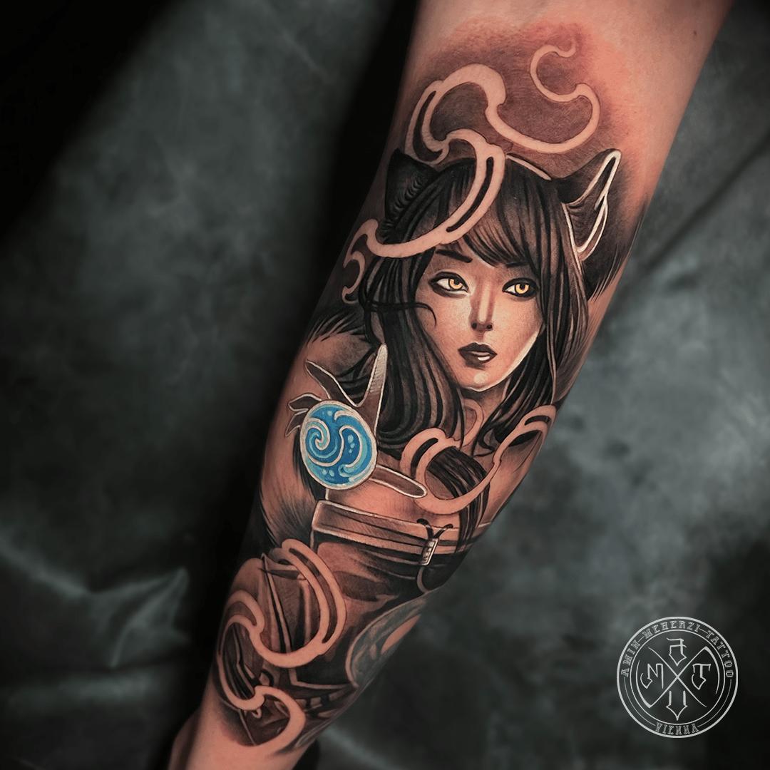 aminmeherzi realistic tattoo black and grey realism tattoo portrait opusmagnum vienna