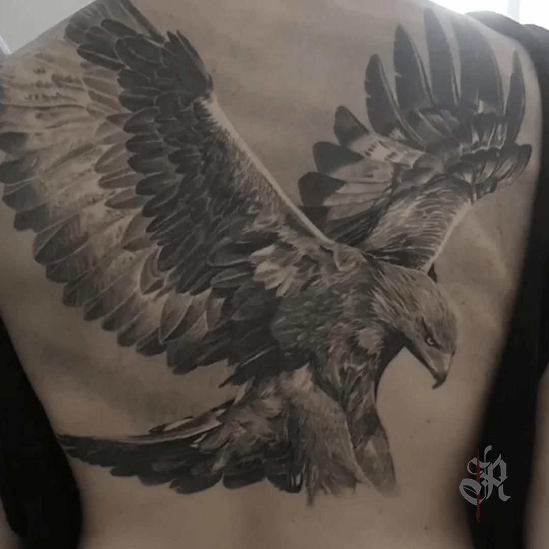 Robi Vienna Tattoo Realistic  Opusmagnum Eagle Adlertattoo