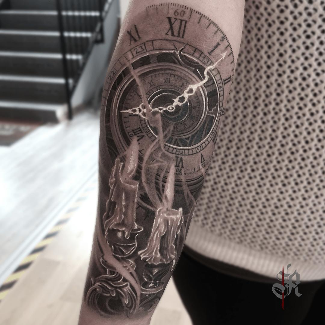 Robi Vienna Tattoo Realistic  Opusmagnum Clock Candles