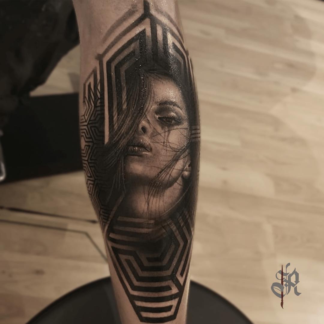 Robi Vienna Tattoo Realistic  Opusmagnum Woman Face
